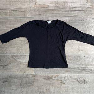 MaxMara black comfortable 3/4 sleeve tshirt